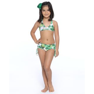 Trikini Infantil com Blusa de Proteção